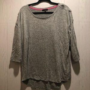Verve Ami 3/4 sleeve gray sweater